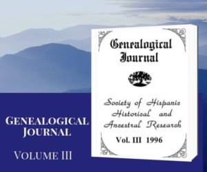 SHHAR Genealogical Journal Volume 3